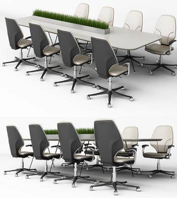 会议桌, 办公椅, 椅子, 现代, 桌子