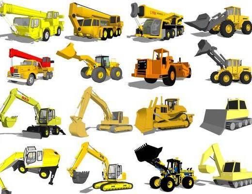 汽车, 交通工具, 吊车组合
