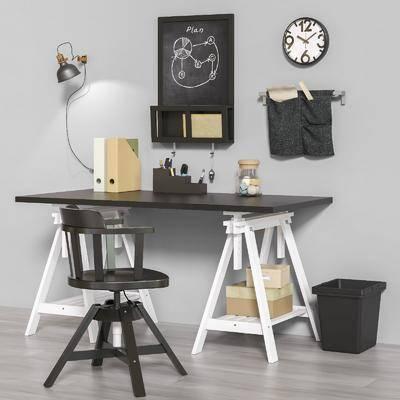 工作台, 桌椅组合, 墙饰, 摆件组合