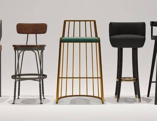 现代简约餐椅, 现代简约吧椅, 现代简约休闲椅