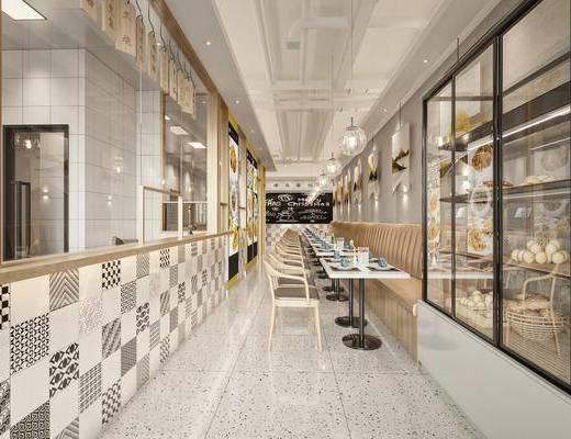 现代, 茶餐厅, 工装