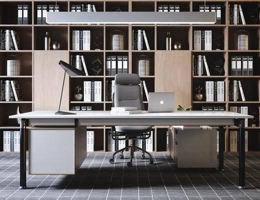 辦公室, 電腦桌, 桌椅組合, 書架