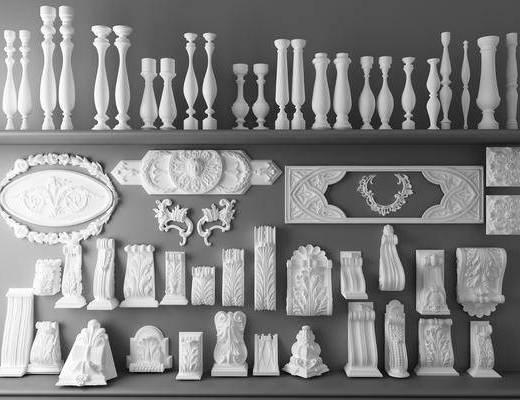 石膏, 雕塑, 罗马柱