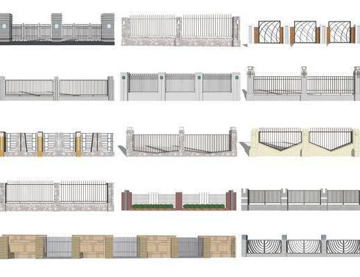 围栏, 栅栏
