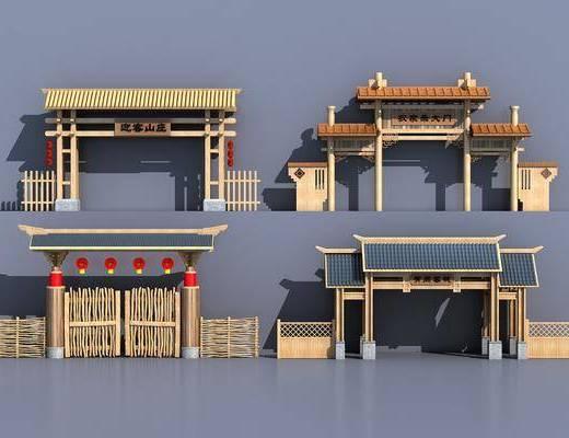 中式门面, 门面, 大门, 牌坊