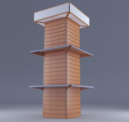 货架, 包柱货架, 包柱, 售货架