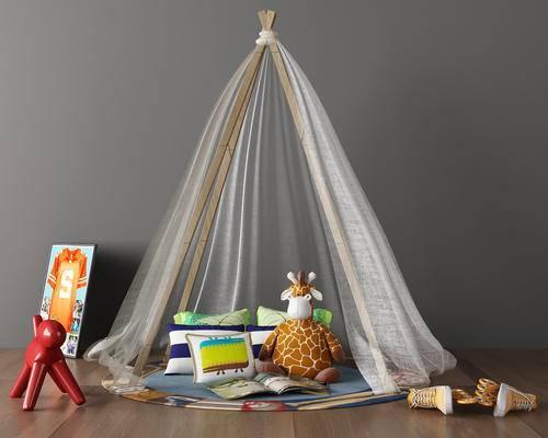 现代儿童房帐篷, 帐篷玩具