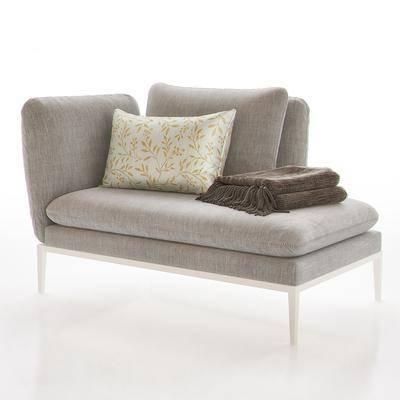 现代布艺贵妃沙发, 现代, 沙发, 布艺沙发, 贵妃位
