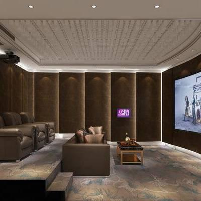 家庭影院, 电影院, 影院, 沙发, 投影