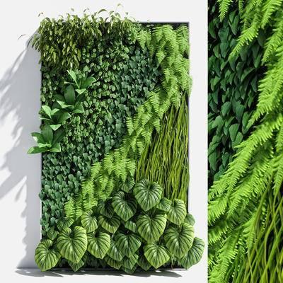背景墙, 植物背景墙, 绿植, 植物墙, 现代, 植物