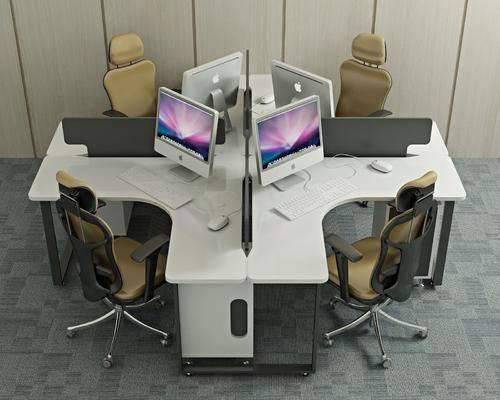 办公桌, 办公椅, 单人椅, 桌子, 现代