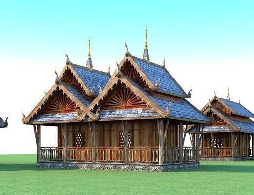 傣族建筑, 公共建筑, 东南亚