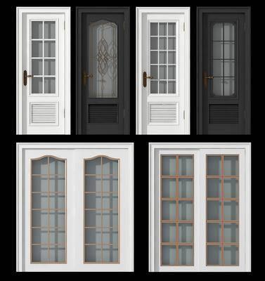 现代单开门, 现代推拉门, 卫生间门, 推拉门, 门