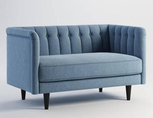 北欧简约, 北欧沙发, 简约沙发, 布纹沙发, 沙发, 下得乐3888套模型合辑