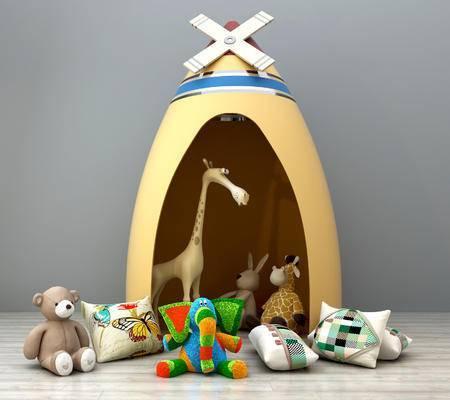 儿童玩具组合, 毛绒熊, 公仔, 抱枕, 玩具, 儿童用具