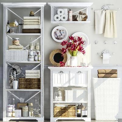 柜架, 毛巾, 沐浴用品, 卫浴组合