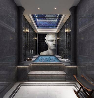 淋浴池, 浴池, 游泳池, 浴缸, 现代