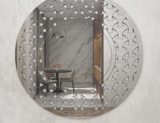 现代简约, 镜子, 现代镜子