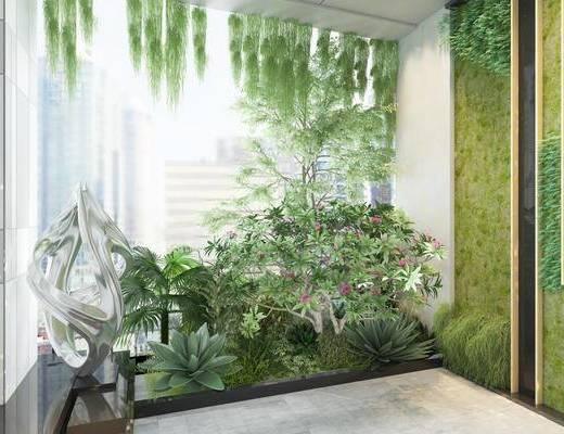现代, 植物, 植物墙