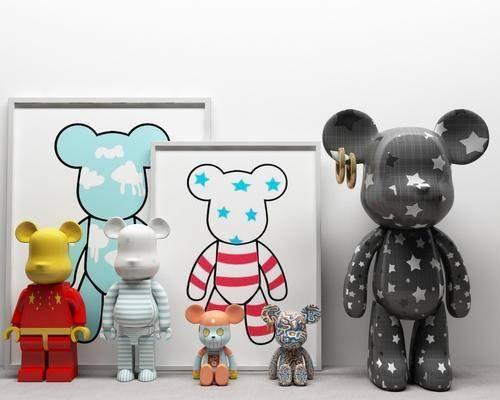 儿童房, 玩具, 装饰, 组合