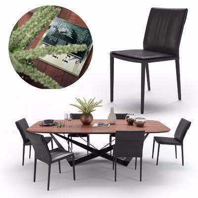 餐桌椅組合, 擺件組合, 現代