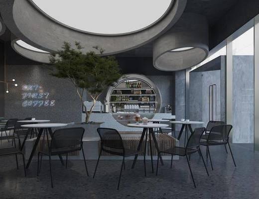 现代, 咖啡厅, 工装