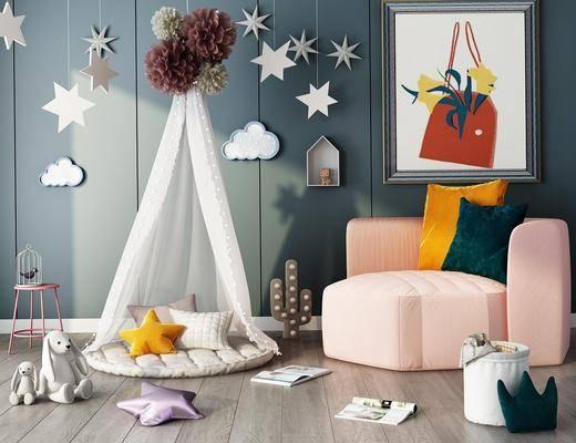 帐篷, 墙饰, 装饰画, 玩具