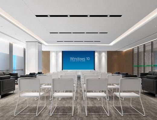 会议室, 会议厅, 现代, 单椅, 椅子, 桌子, 沙发