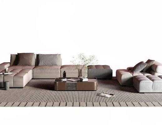 后现代布艺沙发