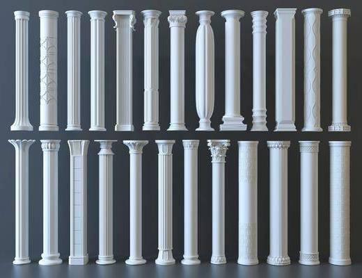 現代風格裝飾柱