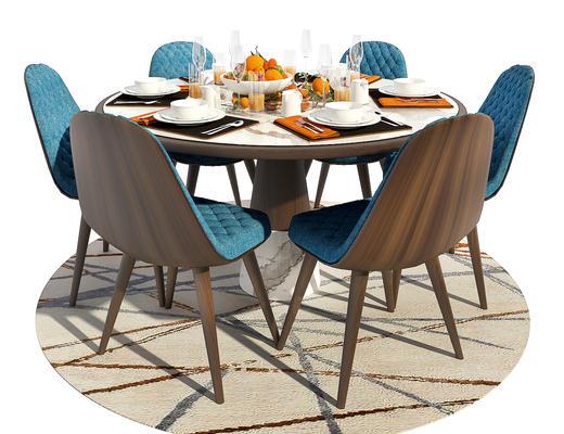 餐桌椅, 桌椅组合, 餐具, 椅子, 桌子