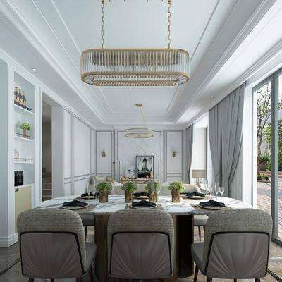 客廳, 餐廳, 沙發組合, 沙發茶幾組合, 邊柜組合, 餐桌椅組合, 餐具組合, 吊燈組合, 擺件組合, 現代