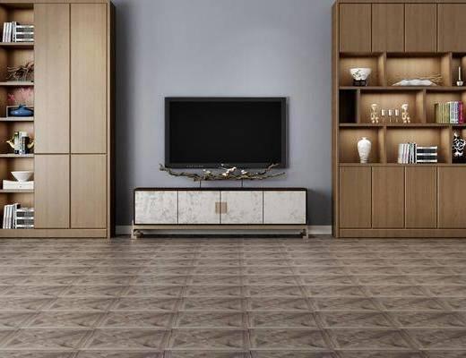 電視柜, 置物架, 擺件組合