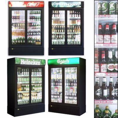 现代冰柜, 现代酒柜, 单开门冰箱, 冷饮柜, 饮料柜, 饮料, 啤酒