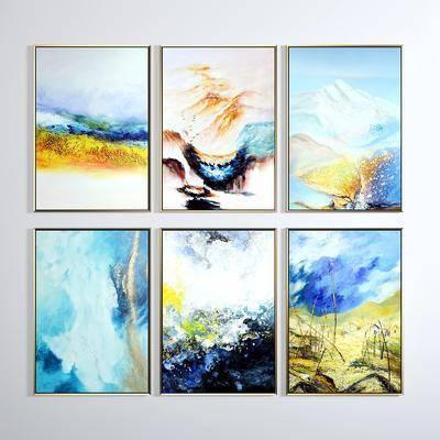挂画, 装饰画, 油画, 抽象画