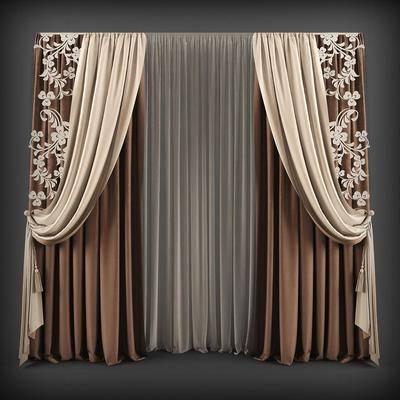 窗帘, 现代窗帘, 北欧窗帘, 窗纱, 现代