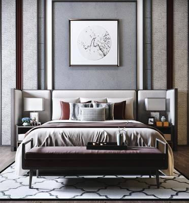 新中式雙人床, 雙人雙, 床具組合
