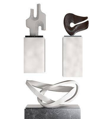 现代雕塑摆件, 摆台
