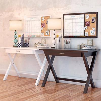 书桌, 装饰摆件, 文具组合, 台灯, 摆件, 装饰品, 陈设品, 北欧