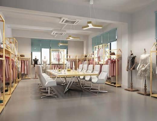 会议室, 衣架, 会议桌, 办公椅, 单人椅, 服饰, 吊灯, 现代