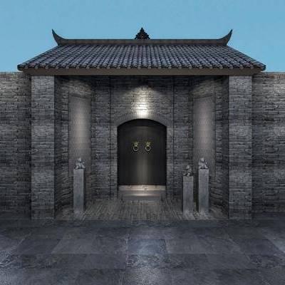 门口, 古建, 中式