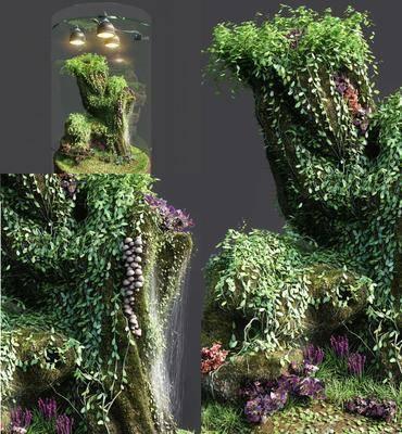 景观植物, 绿植植物, 花瓶花卉, 现代