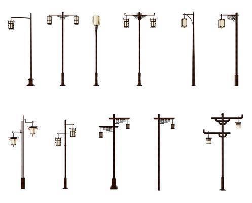 草坪灯, 中式, 新中式, 路灯, 灯
