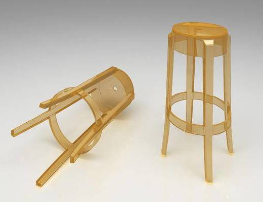 现代, 透明, 吧椅