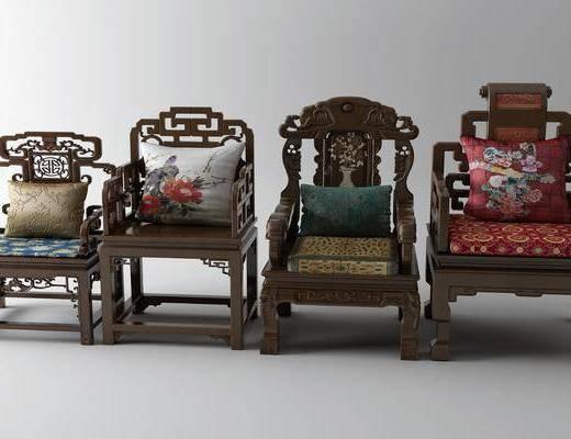 扶手椅, 单椅, 太师椅