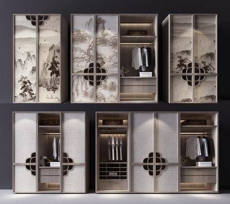 衣柜, 服饰, 装饰柜, 新中式