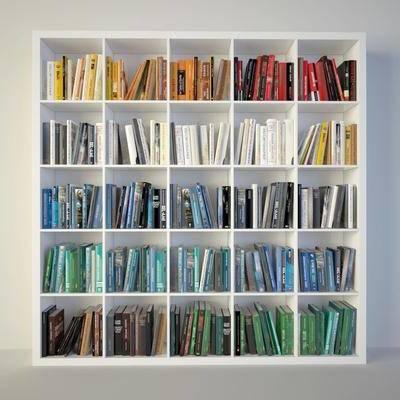 现代书柜书籍组合, 现代, 书柜, 书籍, 书本