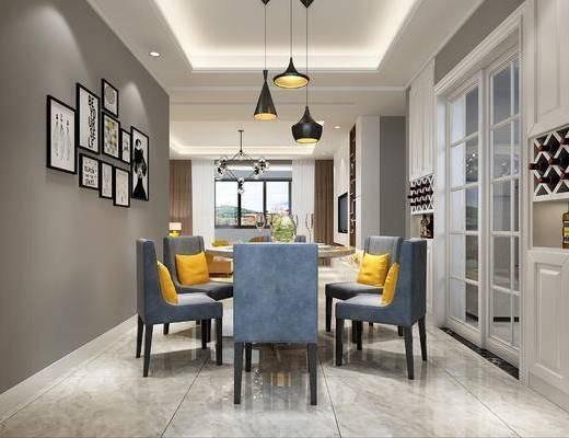 客厅, 北欧客厅, 沙发组合, 北欧沙发, 现代沙发, 沙发茶几组合