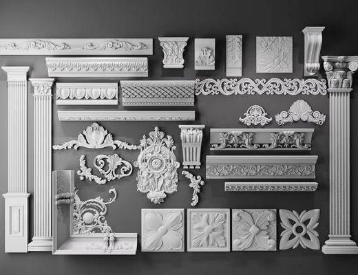 雕花, 罗马柱, 柱头雕刻