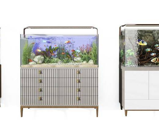 鱼缸组合, 鱼缸水族, 现代